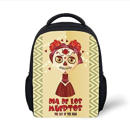Amazon.com  iPrint Kids School Backpack Day Of The Dead Decor ... c5d4963ec6fc7