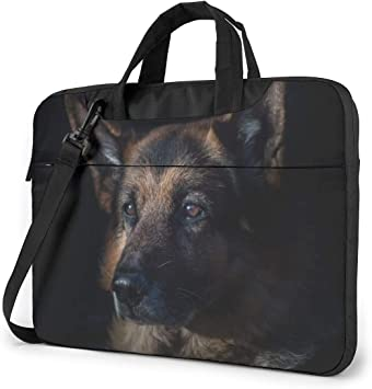 German Shepherd Dreamcatcher Dog Laptop Sleeve Personalized Full Printed Laptop Protective Bag Water Resistant Neoprene Laptop Sleeve for Teen Students White 10inch