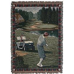 Men's Golf Tour Tapestry Throw