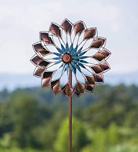 Plow and Hearth Copper Succulent Wind Spinner