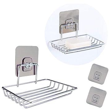 Amazoncom Flecom Soap Dish Holder Wall Mounted Soap Holder