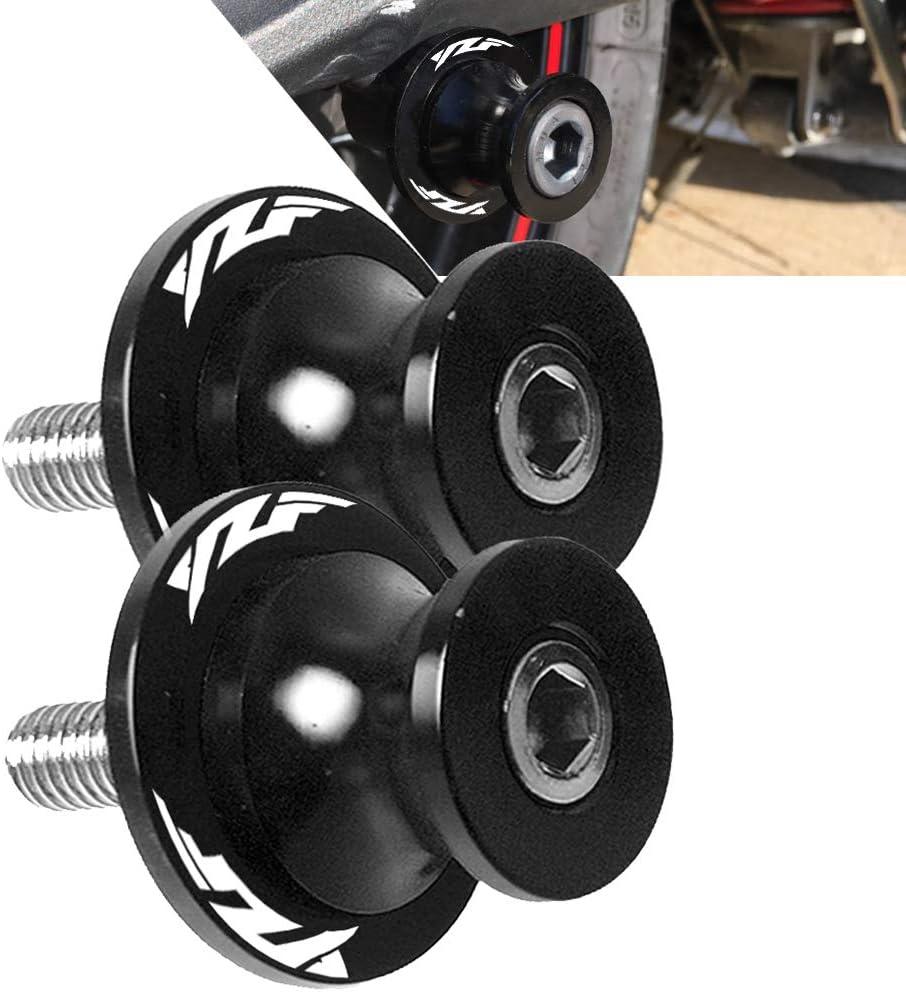 2pcs 6MM M6 X1.5 Motorcycle Swing arm Sliders Spools CNC Swing Arm Stand Screw for Yamaha YZF-R3 2015-2019 YZF-R1 1998-2017 YZF-R6 1999-2017 Black