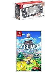 Nintendo Switch Lite, Standard, grau + The Legend of Zelda: Link's Awakening [Nintendo Switch]