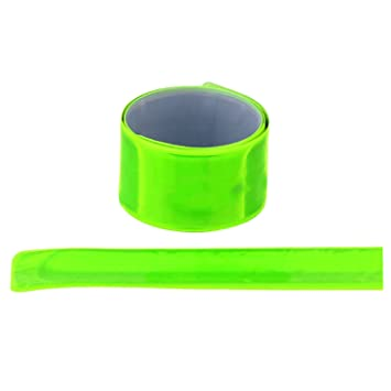 New 40cm Reflective Strap Bracelet Wrist Ankle Arm Band Riding Green Night Light Safety For Walking Running Riding Cheap Sales Running Arm Warmers