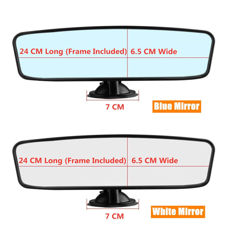 Universale Camion dellautomobile Specchio Retrovisore Interno Specchio Ventosa STARPIA Auto Specchietto Retrovisore 24cm x 6.5cm Bianco