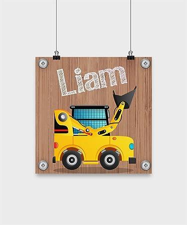 Amazon.com: Youth Bulldozer Loader Nombre Liam personalizado ...