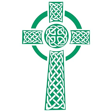 Amazon.com: Celtic Cross Wall Decals for Bedroom Living Room ...