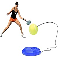 Pelota de entrenamiento de tenis, base cementada con cuerda, perfecta para entrenadores de tenis, entrenador de tenis, entrenador de tenis, entrenador para principiantes y jugadores intermedios
