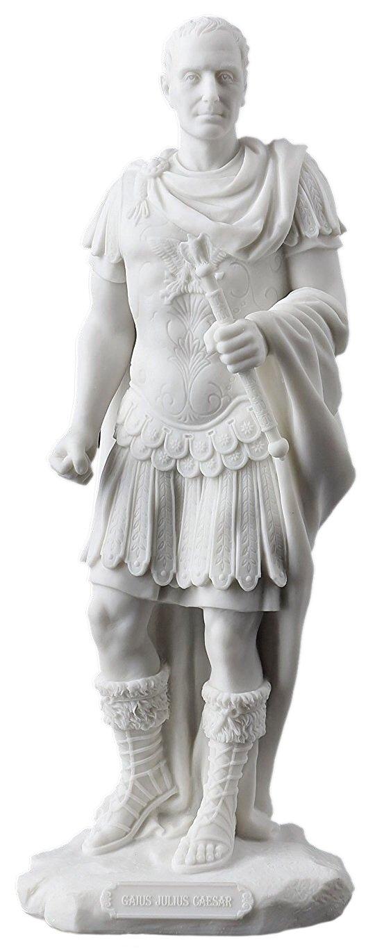 Julius Caesar in Roman Military Uniform Statue Sculpture Figurine