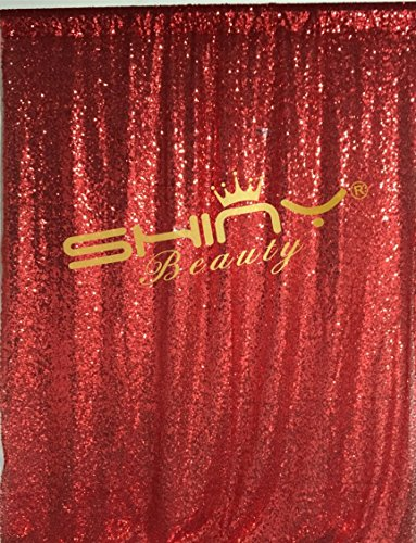 20FTX10FT-Red-Sequin Backdrop Sequin Curtains Background Sequin Linens/Fabric For Black Friday Decoration (Red) by ShinyBeauty