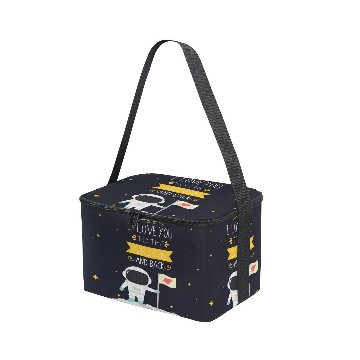 ALAZA I Love You to the Moon and Back Star Insulated Lunch Bag Box Cooler Bag by ALAZA (Image #4)