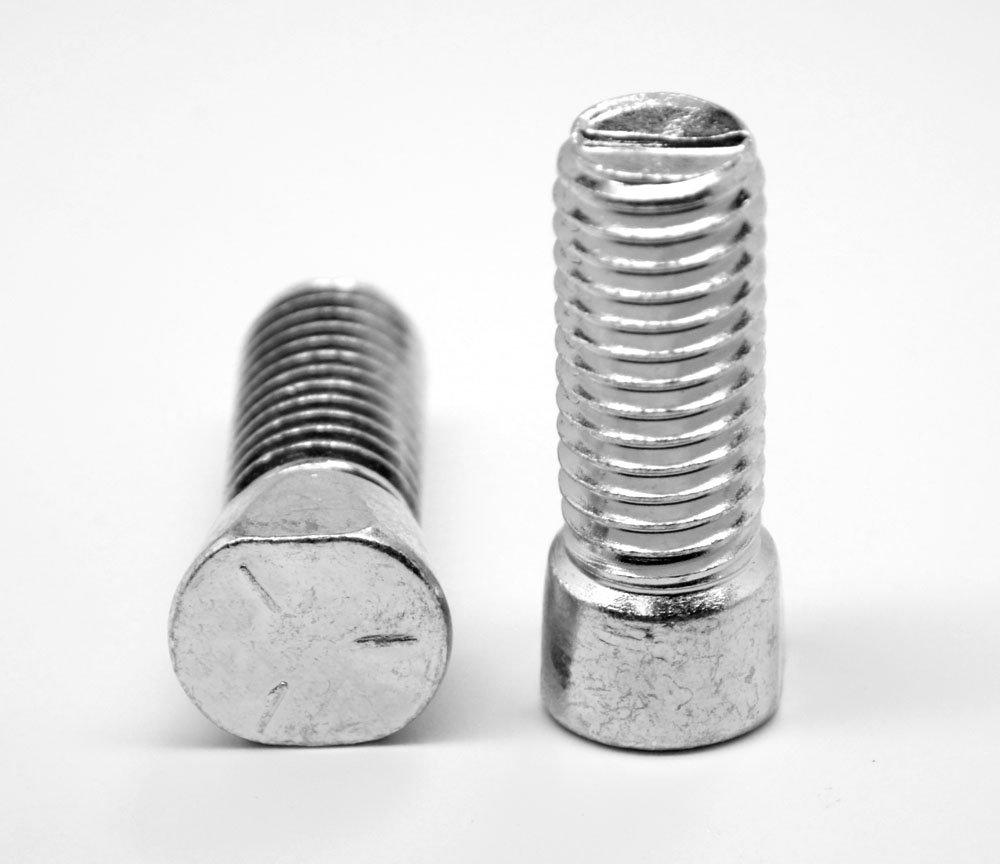 2-1//2 Carbon Steel Plow Bolt with Zinc Finish; PK25