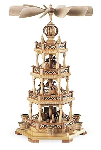isdd german christmas pyramid erzgebirge motif 3 tier height 58 cm23 - German Christmas Pyramid Kit