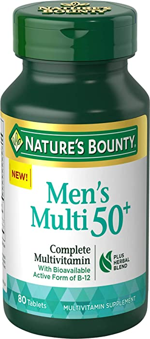 Nature's Bounty Adult Men 50+ Complete Multivitamin, 80 Tablets