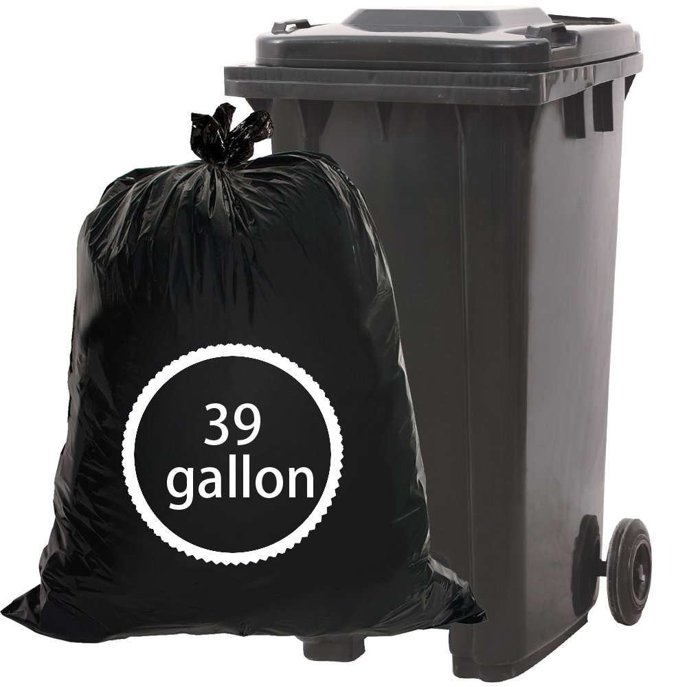 Begale 39 Gallon Lawn and Leaf Trash Bags, Black, 62 Counts Begalers 83114
