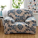 Floral printed slipcover sofa,Universal all-inclusive sofa cover non-slip leather for sofa towel cloth fabric couch covers furniture protector for 1 2 3 4 cushions sofa-T Chair