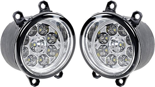 Passenger /& Driver side LED Fog Light Lamp H11 For Toyota Lexus Scion Corolla