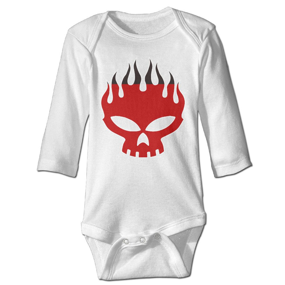 Unisex Long Sleeve Rompers Cotton The Offspring Skull Comfortable Baby