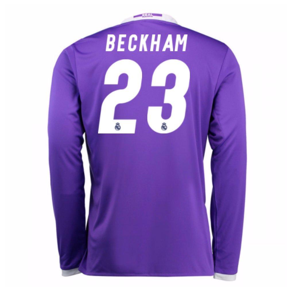 2016-17 Real Madrid Away Football Soccer T-Shirt Trikot (David Beckham 23) - Kids