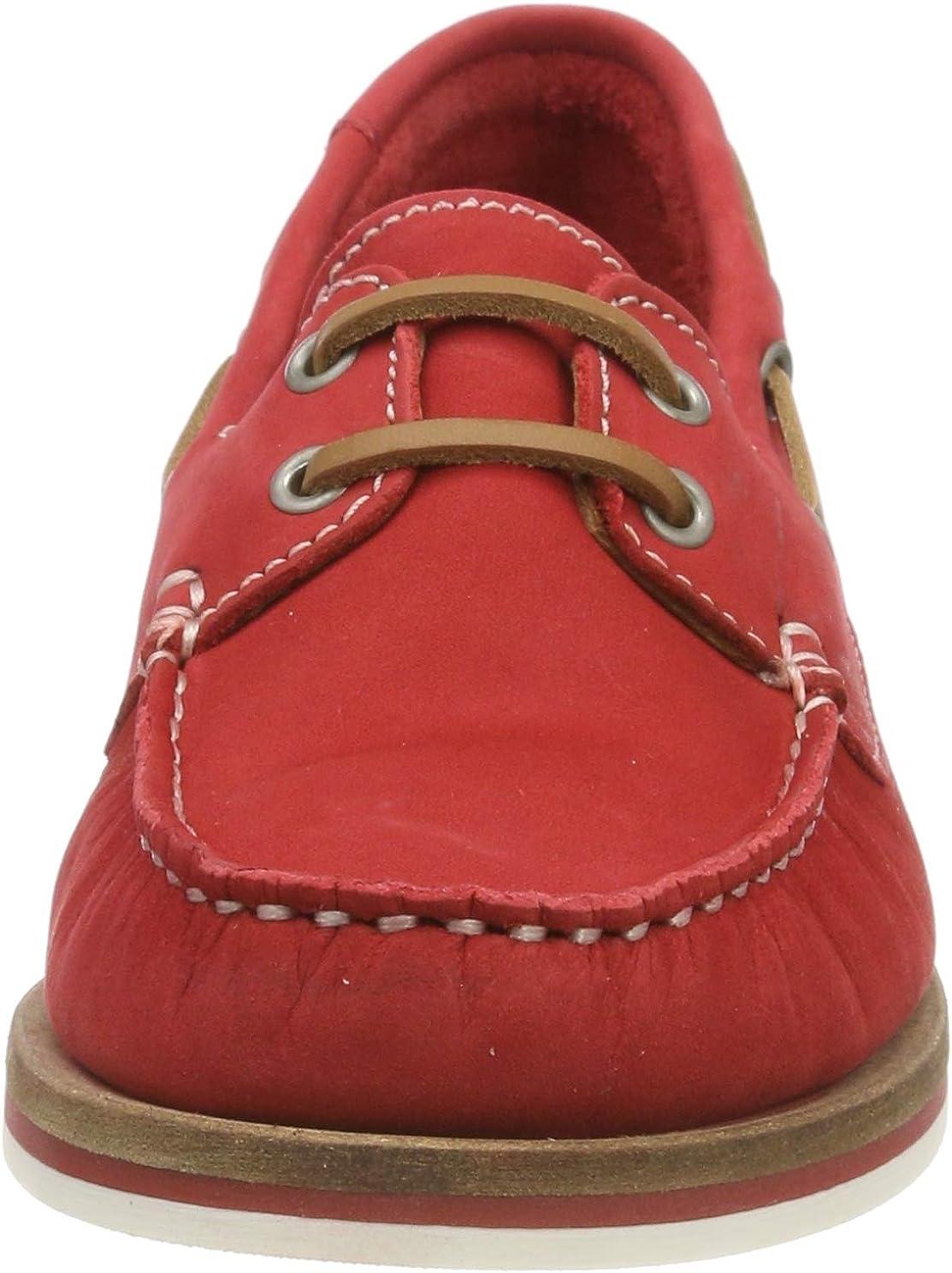 Tamaris 1-1-23616-22, Sneakers Basses Femme Rouge Red Nubuc 601