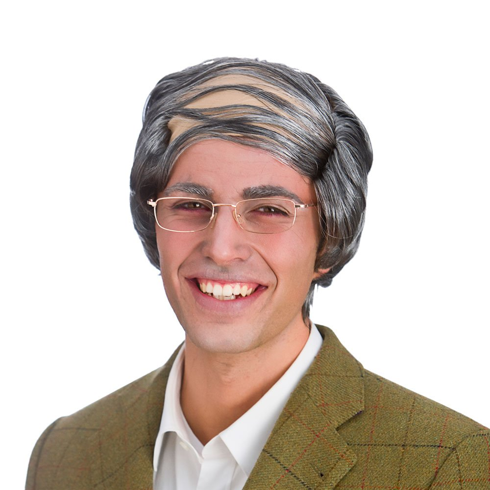 3b4ea79377 Mens Grandad Grey Old Man Comb Over Wig  Wicked Costumes  Amazon.co.uk   Toys   Games
