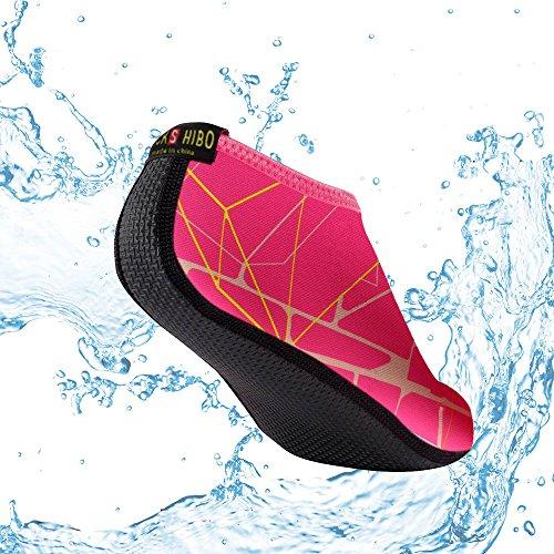 Herren Rose Badeschuhe JACKSHIBO Surfschuhe C BarfußSchuhe Strandschuhe Wasserschuhe Schwimmschuhe Aquaschuhe Neoprenschuhe Damen aHUwqH6