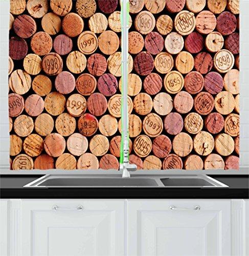 wine theme kitchen curtains - 5
