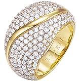 ESPRIT Damen-Ring Atropia Messing rhodiniert Zirkonia weiß Rundschliff Gr. 50 (15.9)
