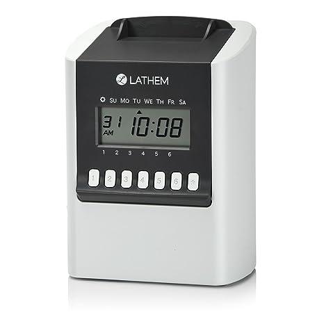 Amazon.com: lathem 700E calcular tiempo reloj, electrónica ...