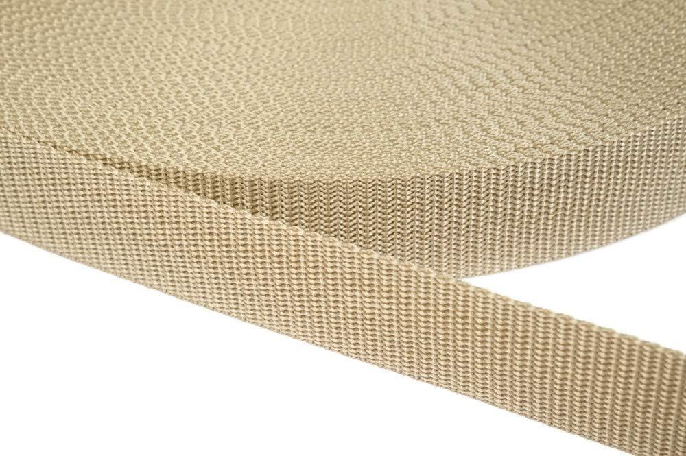 Weiss 6 Meter 1.2mm Stark in 41 Farben 01 Jajasio PP Gurtband 30mm breit aus Polypropylen