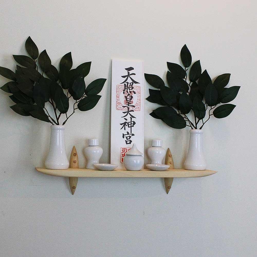 神具セット 壁掛け モダン 神棚 40ホワイト 石膏ボード専用 すぐにお祀り B074S5HXVL