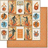 Teenagers Double-Sided Cardstock 12''X12''-Basketball