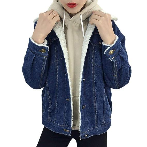 Jeansjacken Elegant Damen Mode Jacket Winter Mit Fell Jungen Einreihig  Revers Langarm Vordertaschen Verdicken Mäntel Young Fashion Hochwertigem  Outerwear ... badb61dd02