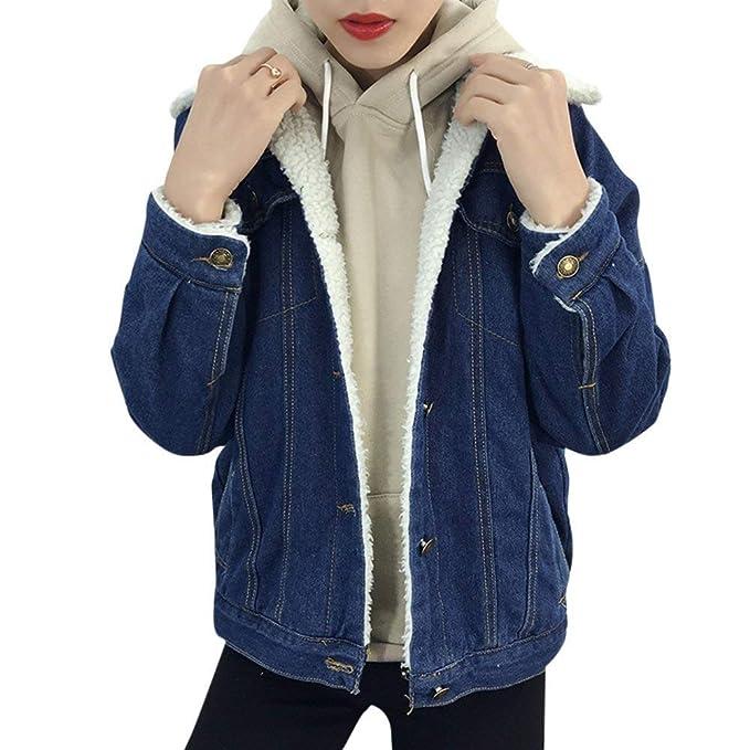 Con Giubbino Giacche Invernali Donna Elegante Moda Pelliccia Jeans n8OOTZqY