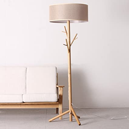 Qqb Floor Light Modern Tree Branch Wood Floor Lamps Lights