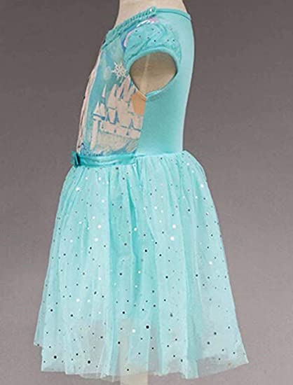 Little Teeth Girls Toddler Elsa Princess Cosplay Costume Mesh Tutu Dress