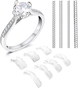 Coopache Invisible Ring Size Adjuster 2 Styles for Loose Rings - Ring Guard, Ring Sizer, 13 Sizes Fit Almost Any Ring