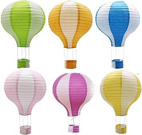 Matissa Lot de 9 lanternes montgolfi/ères en Papier 20 cm