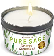 The Sunny Factory MAGNIFICENT101 Pure White Sage Smudge Candle for Home Energy Cleansing, Banishes Negative Energy I Purific