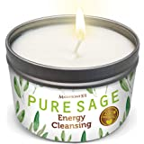 MAGNIFICENT101 Pure White Sage Smudge Candle for House Energy Cleansing, Banishes Negative Energy I Purification and Chakra H