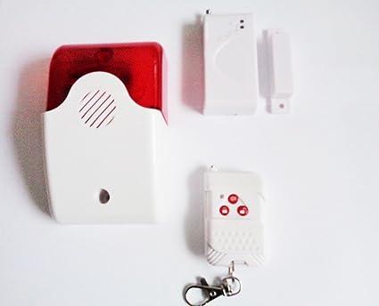 Mini alarma sirena + Radio Contacto de puertas/ventanas, de hasta 20 Sensores anschließbar