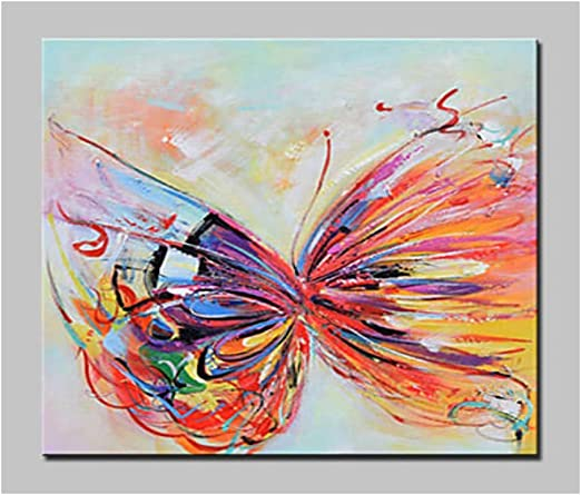 RED ABSTRACT BUTTERFLY FLOWER MODERN WALL ART PICTURE CANVAS PRINT READY TO HANG
