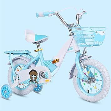 ZCRFY Bicicleta para Niños Bicicletas Infantiles Bebés Y Niñas Pequeños Estudiante Bebé Antideslizante Hembra De Carbono