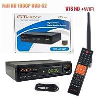 GTMEDIA V7S HD DVB-S2 Receptor de satélite Freesat V7 HD Mejora con USB WiFi Antena FTA 1080p Full HD Decoder Receptor de TV Soporte Cccam,PowerVu, Dre y Biss Clave,Newcam, Youtube, Youporn