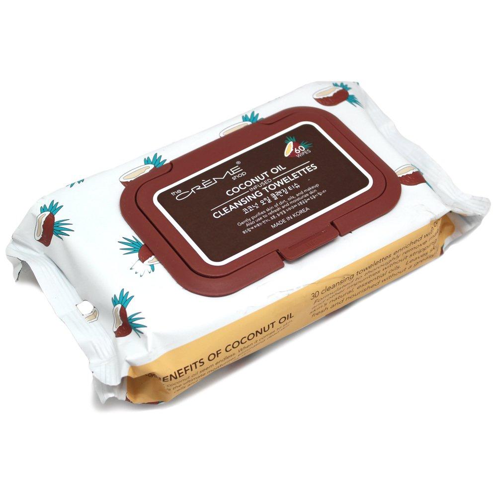 The Creme Shop Cosmética coreana aceite de limpieza Toallitas Aceite de coco: Amazon.es: Belleza