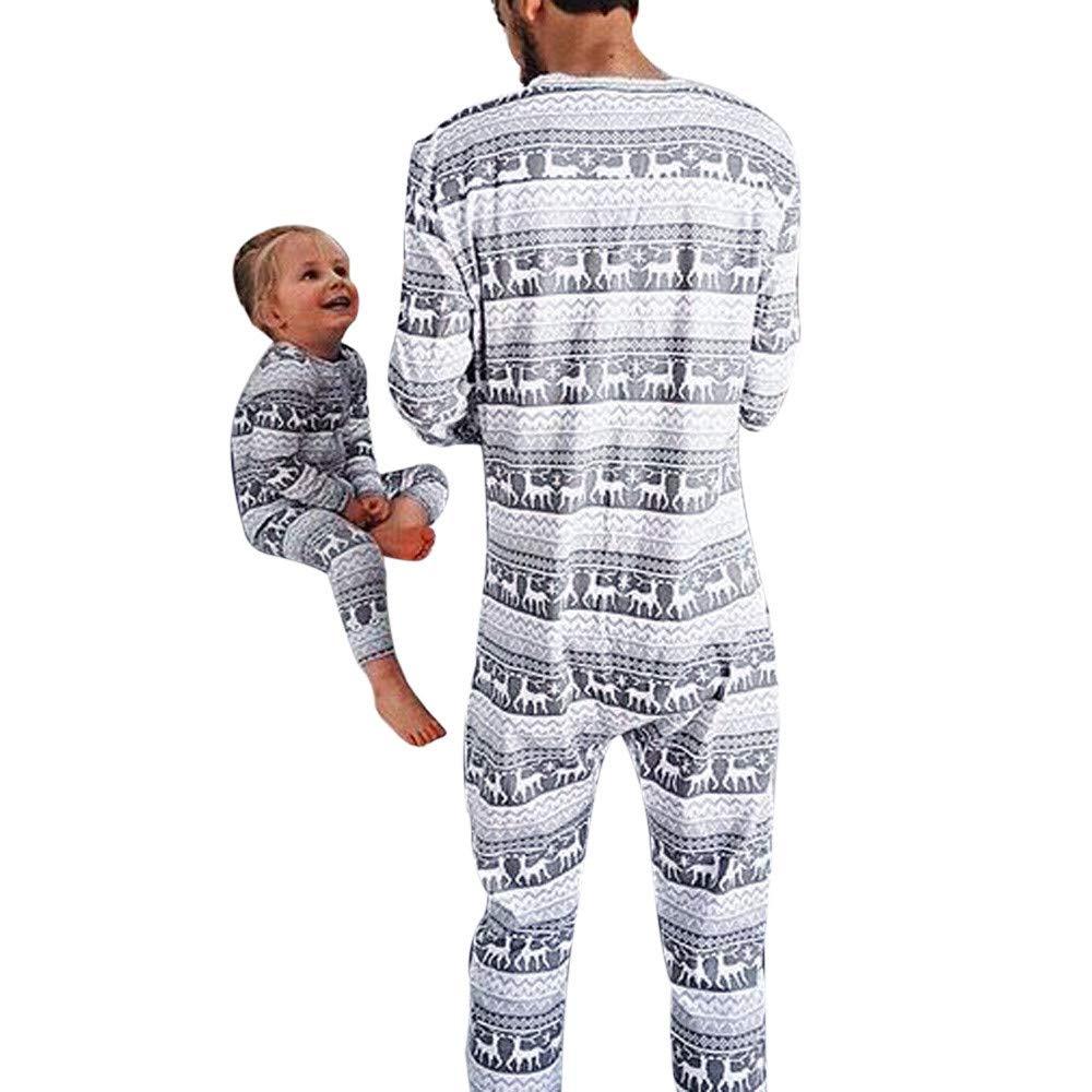 Amphia Nachtwä sche Set -Weihnachten Pyjama Schlafanzug Familie Weihnachts Xmas Weihnachtspyjama Nachtwä sche Hausanzug Sleepwear Sweater Set Damen Herren Kinder Mä dchen Jungen
