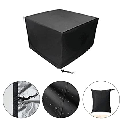 SmartRICH Heavy Duty Patio Garden Furniture Cover, 210D Waterproof Breathable Oxfor Fabric Dustproof Cover (135x135x74cm)
