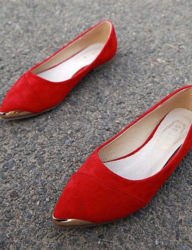 red más mujer colores ante us6 Toe comodidad 5 vestido cn37 de casual PDX zapatos de 5 5 cerrado señaló uk4 plano Toe Flats talón disponibles 7 eu37 wCqHUZ