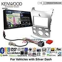Volunteer Audio Kenwood Excelon DNX994S Double Din Radio Install Kit with GPS Navigation Apple CarPlay Android Auto Fits 2011-2013 Kia Forte (Silver)
