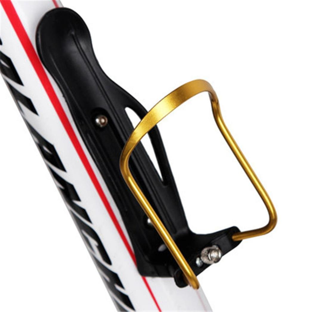 Bicycle Bottle Holder , Aluminum Alloy Adjusted Cage for Water Bottle (Gold)